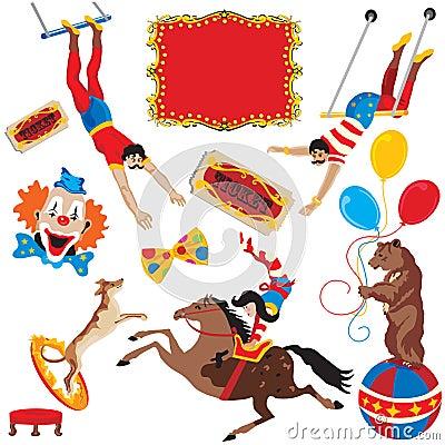 Circus act icons