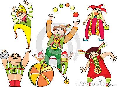 Circus actors set