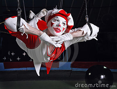 Circus Air Acrobat Royalty Free Stock Photos - Image: 14986518