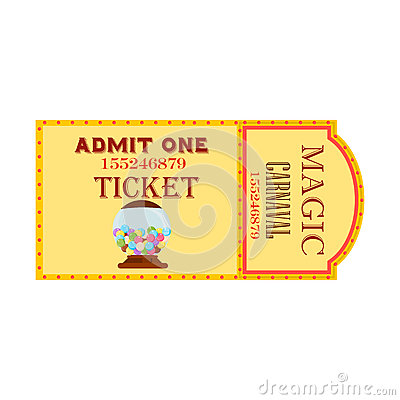 Circus Magic Show Entrance Vector Tickets Templates Vector – Show Ticket Template