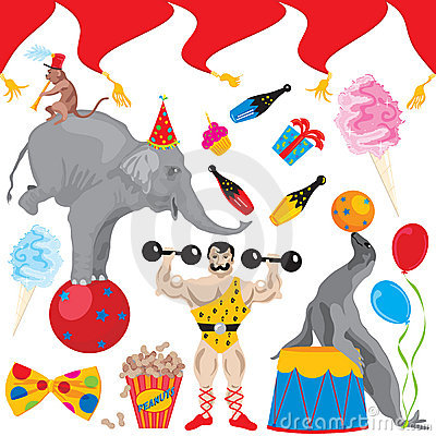Circus Birthday Party Clip art icons