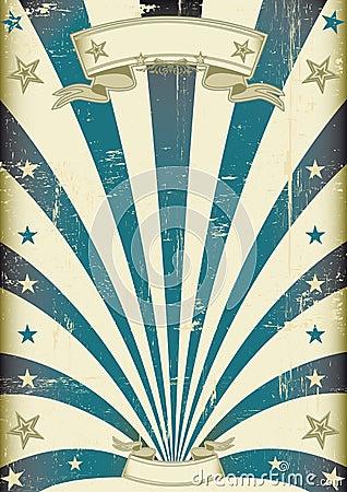 Free Circus Blue Beams Vintage Poster Stock Photo - 34892560
