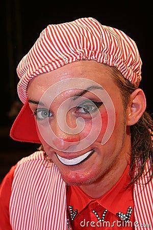 Circus clown portrait