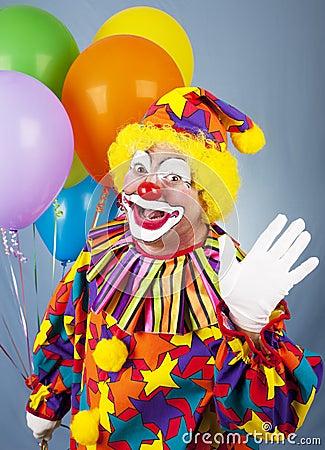 Free Circus Clown Waves Hello Royalty Free Stock Photo - 14389045