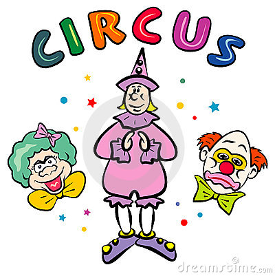 Circus Clowns. JPG and EPS