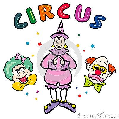 Circus Clowns. JPG and EPS