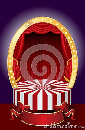Circus curtain