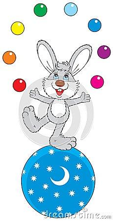 Circus Hare Juggler