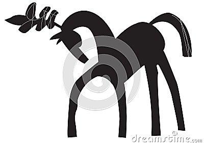 Circus horse logo