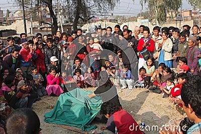 Circus in Kathmandu Editorial Stock Photo