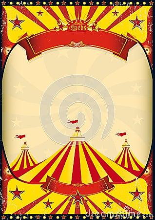 Free Circus Poster Big Top Royalty Free Stock Photos - 24992348