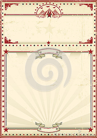 Free Circus Poster Red Vintage Royalty Free Stock Photos - 31189428