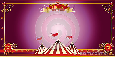 Circus purple invitation