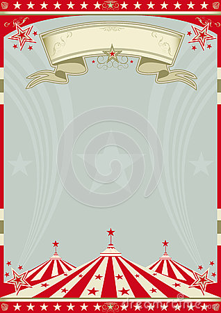Vintage Circus Poster Background Circus Retro Big Top. ...