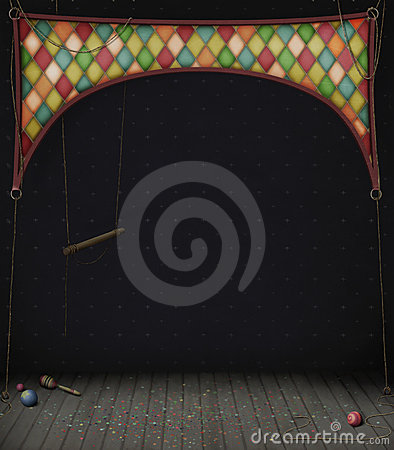Free Circus Room With Swings And Balls Stock Images - 16505054