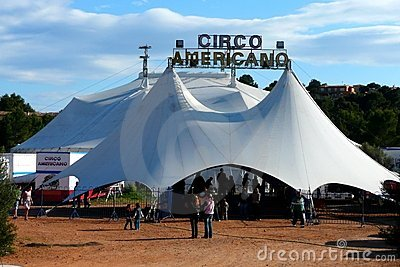 Circus Tent Editorial Photography