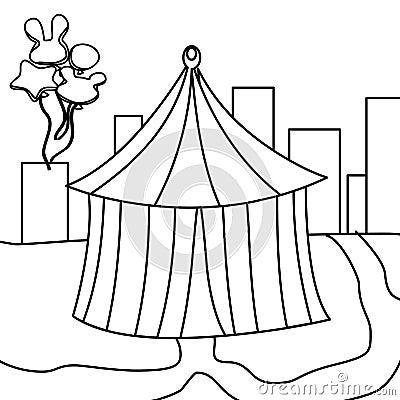 Circus Tent Coloring Page Stock Photography   CartoonDealer.com ...