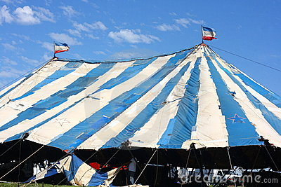 Circus Tent Under Construction Editorial Stock Photo
