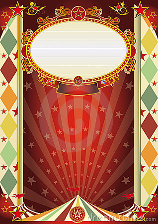 Circus vintage rhombus poster