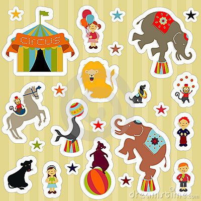 Free CircusElementsStickers Stock Images - 8496734