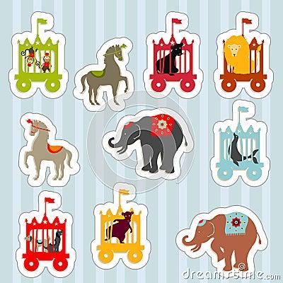 Free CircusTrainStickers Stock Image - 8496791