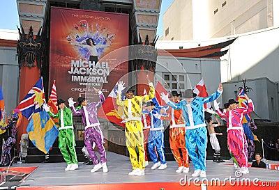 Cirque du Soleil, Michael Jackson Editorial Image