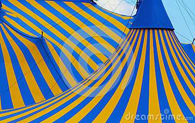 Cirque tent close up Montreal