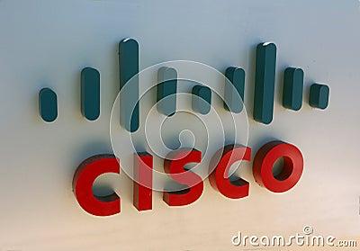 Cisco-Zeichen Redaktionelles Stockfoto
