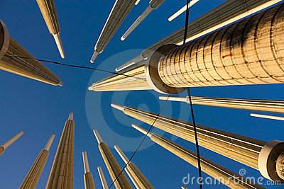 Cisneros or Light square. Medellin, Colombia Editorial Stock Image