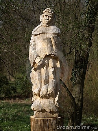 Cisterican s sculpture of monk