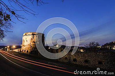 Citadel bastion at night