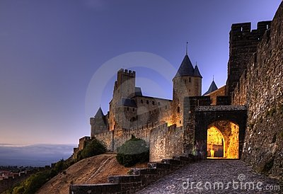Citadel and castle of Carcassonne.