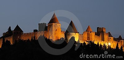 Citadel and castle of Carcassonne, France