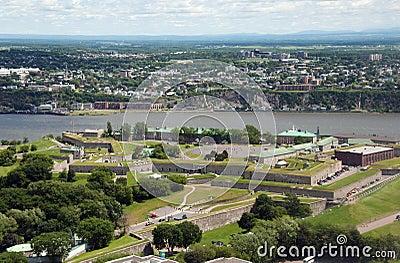 Citadel of Quebec, aerial view