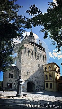 Free CITADELLA CLOCK TOWER Of SEGESVAR - SIGHISOARA - TRANSYLVANIA Royalty Free Stock Photography - 32295897