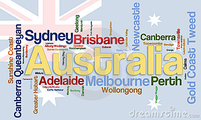 Cites of Austratlia wordcloud