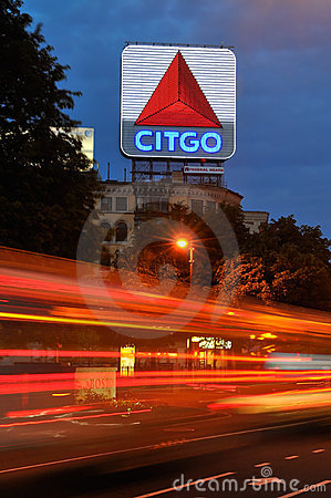 Citgo Sign, a Boston Landmark Editorial Image