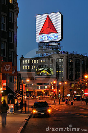 Citgo Sign at Night, a Boston Landmark Editorial Photography