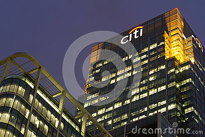 Citi Editorial Stock Image