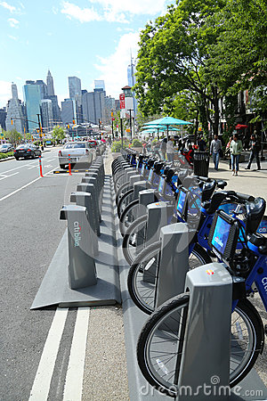 Citi bike station ready for business in New York Editorial Stock Image