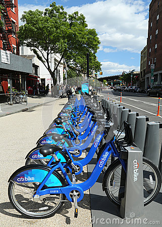 Citi bike station ready for business in New York Editorial Photography