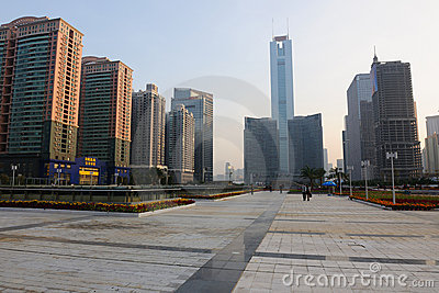 CITIC Plaza and Guangzhou East Station Square Editorial Photo