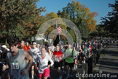 Citizen Marathon Runners Editorial Photo