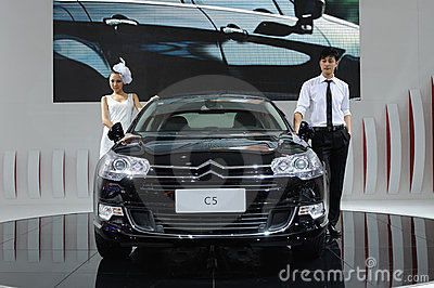 Citroen c5 and model Editorial Photography
