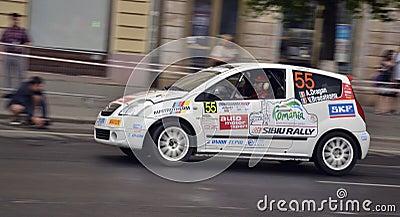 Citroen crew, Transylvania Rally 2012 Editorial Image