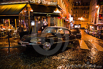 Citroen DS in Paris Editorial Stock Image