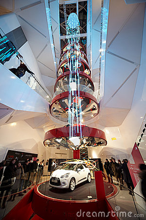 CITROEN DS3 presented in the exhibition hall Editorial Image