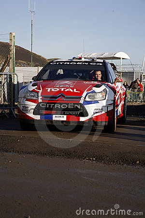 Citroen Team at Wales Rally GB 2008 Editorial Stock Image