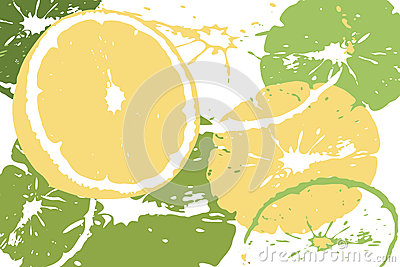 Citrus abstract backdrop