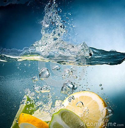 Citrus fall into the water